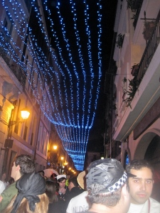 All of Oviedo was decorated in lights for Carnaval, these were my favorites!