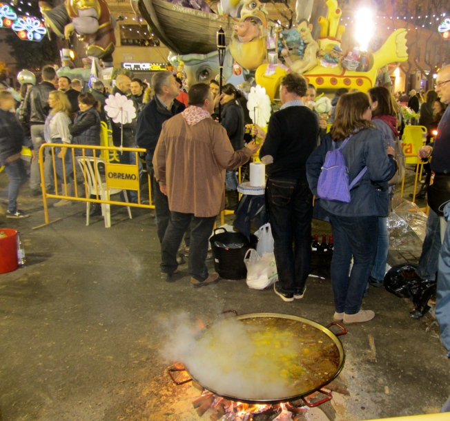 paella in the street