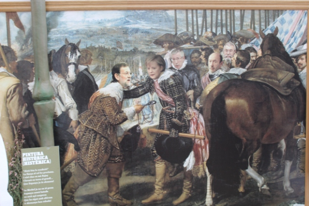 "A play on a famous Velazquez painting: ""The Surrender of La Breda"""