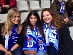 Vivian, me, Nora at the game