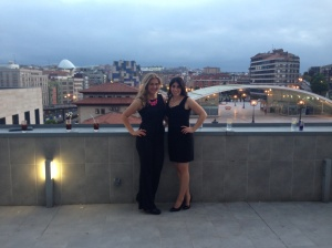 Vivian and I on the balcony overlooking some of Oviedo.